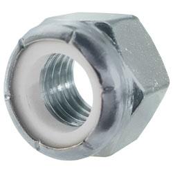 Nylon Insert Lock Nut - UNC - Grade 2 / ZINC