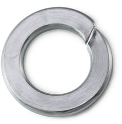Lock Washer - Helical Spring - Steel / Zinc