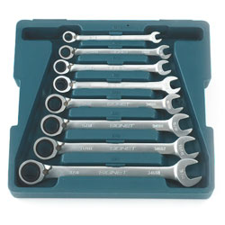 12 Piece Reversing Ratcheting Wrench Set