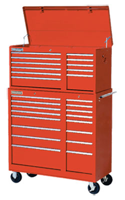 "10 Drawer Classic Series Drop Front Chest - 26""x18"""