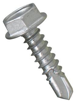 Hex Washer Head 10-16 TEK Screws / RUSPRO® Coated 410 Stainless Steel (JUG)