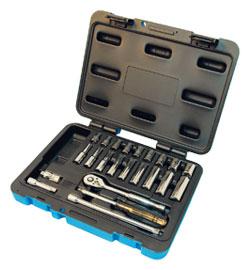 "Chrome Socket Set - 1/4"" - 6 Point / 600115 *24 Pc"
