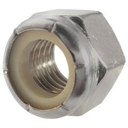 UNC Zinc Plated Steel Nyloc Nylon Lock Nuts