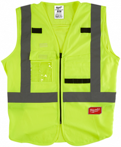 Hi-Vis Safety Vest - 10 Pockets - Yellow / 48-73-5060 Series