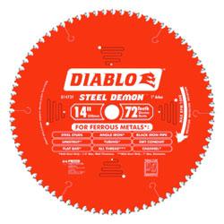 "Circular Saw Blade - 14"" - 72T / D1472F *STEEL DEMON"