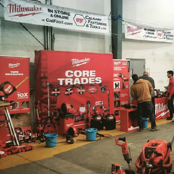 Milwaukee Cut the Cord Event at Calgary Fasteners & Tools