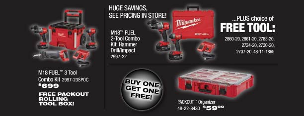 Milwaukee's BIGGEST Deals at Calgary Fasteners & Tools' Cut the Cord Event