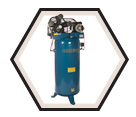 Air Compressor - Stationary - 6.5 HP - 60 gal / PK-6560V