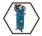 Air Compressor - Stationary - 6 HP - 60 gal / PP-6060V