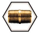 Close Nipple - Male Pipe - Brass / 112 Series