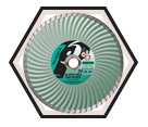 "Super Dry Turbo Diamond Blade - 5"" x 0.080"" / 7/8"" - 5/8"" Arbor"