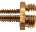 Water Hose Barb Connector - Male - Brass / 193 Series