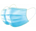 Pleated Face Mask - 3-Ply - Disposable / 80-9078-0 (50/BX)