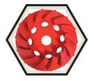 "PRO-V™ Swirl Segmented - 4"" x 5/8-11"""