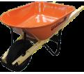 Wheelbarrow - 6 cu. ft. - Orange - Steel / W000427N