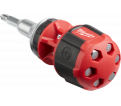 Ratcheting Stubby Screwdriver - 8-in-1 - Red / 48-22-2330