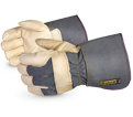 Leather/Cotton Gloves - Lined - Full Grain Cowhide / 76GR