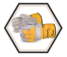 Fitter Gloves - Puncture Level 3 - Lined - Split Cowhide / 66BRBOA *Endura®