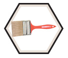 All Purpose Bristle Flat Brush