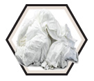 Rags - #1 White Ganzies - 20 lbs. (Box)