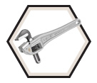 Offset Pipe Wrench - Aluminum / 31000 Series