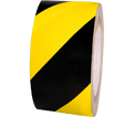 "Reflective Tape - 2"" - Black & Yellow Hatch / RST106 *ENGINEER GRADE"