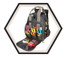 Lighted Tool Backpack - 56 Pocket - Poly Fabric / L255