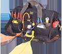 "Power Plug Tool Bag - 34 Pocket - 18"" - Poly Fabric / P235"