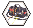 "Power Plug Tool Bag - 34 Pocket - 18"" - Poly Fabric / P235"