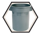 Garbage Can - Resin - 32 Gallon / No Lid