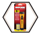 Yellow Flashlight w/ Ring Hanger - 2AA / I2AA-B