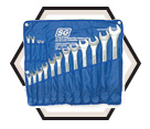 16 Piece Raised Panel Combo Wrench Set