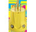 3-Wire Male Plug - 15A - Yellow / AH5965Y *ARROWHART