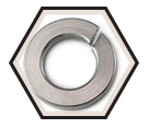 Lock Washer - Helical Spring - 316 Stainless Steel