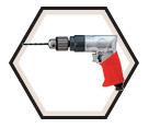 """Pneumatic Drill - 3/8"""" (10 mm) / 5445R"""