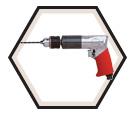 """Pneumatic Drill - 1/2"""" (13 mm) / 5450R"""