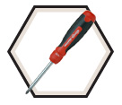 Screwdriver - 13-1- Red & Black / 211R2C36RD *RATCHETING
