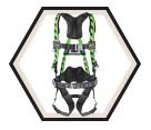 Full Body Harness - L/XL - High Vis Green / AirCore™