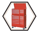 """10 Drawer Classic Series Drop Front Chest - 26""""x18"""""""