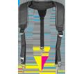 Suspenders - Black w/ Hi-Viz Trim - Padded Poly Fabric / T-02325