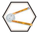 505P-7 Plastic Miter Saw Protractor