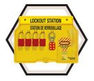 Lockout Station - 4-Lock - Keyed Different / 1482BP1106FRC