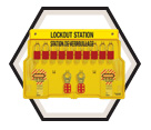 Lockout Station - 10-Lock - Keyed Different / 1483BP1106FRC