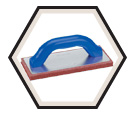 "Float - Coarse Cell Red Rubber - 9"" x 4"" / 14406"