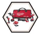 4 Tool Combo Kit M18 FUEL™ - 18V Li-Ion / 2796-24