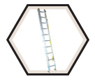 Aluminum Box Rail Extension Ladder / A132 Series