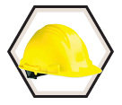 Cap Style Ratchet Suspension Hard Hat - The Peak / A79R