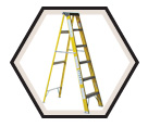 Fiberglass Stepladder HD / F540 Series