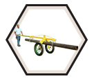 Pipe Dolly - 2,000 lbs - Steel / 780351 *GRASSHOPPER