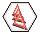Warning Triangle Reflector Kit - Fibreglass / XG29
